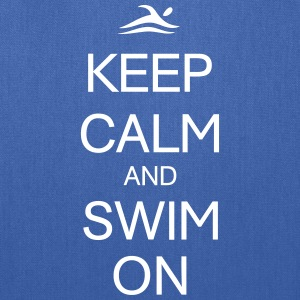 KEEP CALM AND SWIM ON Bags & backpacks - Tote Bag