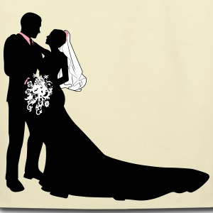 Bride & Groom vector - Eco-Friendly Cotton Tote
