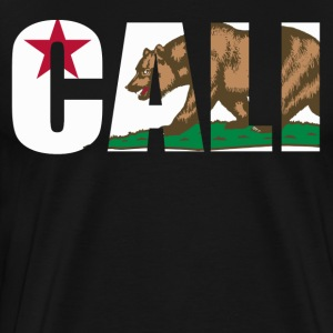 Cali California Bear Flag - Men's Premium T-Shirt