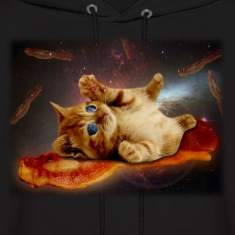 bacon cat in space.png Hoodies