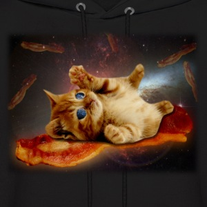 bacon cat in space.png Hoodies - Men's Hoodie
