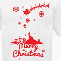 Merry christmas, a scene of a small village T-Shirts