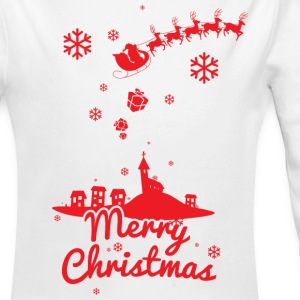 Merry christmas, a scene of a small village Baby & Toddler Shirts - Long Sleeve Baby Bodysuit