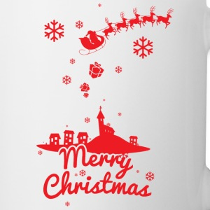 Merry christmas, a scene of a small village Bottles & Mugs - Coffee/Tea Mug