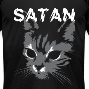 satan cat T-Shirts - Men's T-Shirt by American Apparel