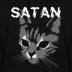 satan cat Hoodies