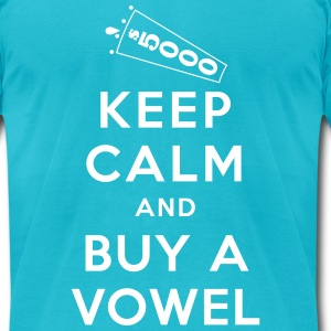 Keep Calm and Buy a Vowel - Men's T-Shirt by American Apparel
