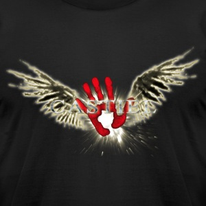 Castiel Fallen Hand StarBurst 6 T-Shirts - Men's T-Shirt by American Apparel
