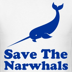 save the narwhals - Men's T-Shirt