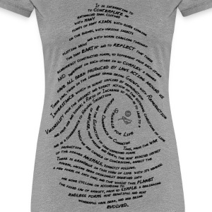 Darwin's Fingerprint by Tai's Tees - Women's Premium T-Shirt