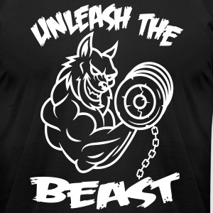 Beast Wolf T-Shirts - Men's T-Shirt by American Apparel