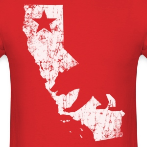 California State Bear Flag - Men's T-Shirt