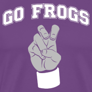 Design ~ Go Frogs American Apparel shirt | Frogs hand sign shirt