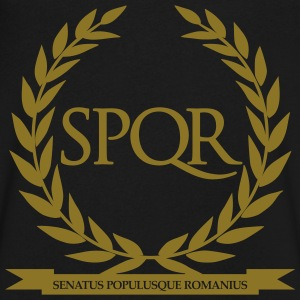 SPQR T-Shirts - Men's V-Neck T-Shirt by Canvas