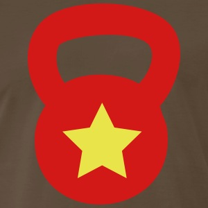 Kettlebell With Star - Men's Premium T-Shirt