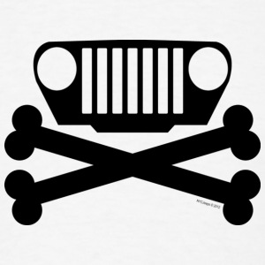 Jeep TJ Wrangler Grille and Crossbones  - Men's T-Shirt