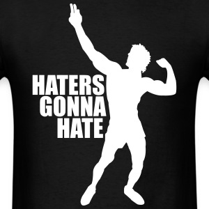 Zyzz Silhouette Haters Gonna Hate t-shirt - Men's T-Shirt