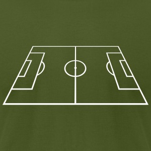 Soccer Playing Court - Pitch - Field T-Shirts - Men's T-Shirt by American Apparel