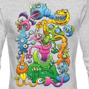 Monstrously Messy Long Sleeve Shirts - Men's Long Sleeve T-Shirt by Next Level