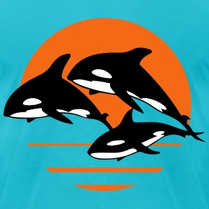 orcas T-Shirts - Men's T-Shirt by American Apparel
