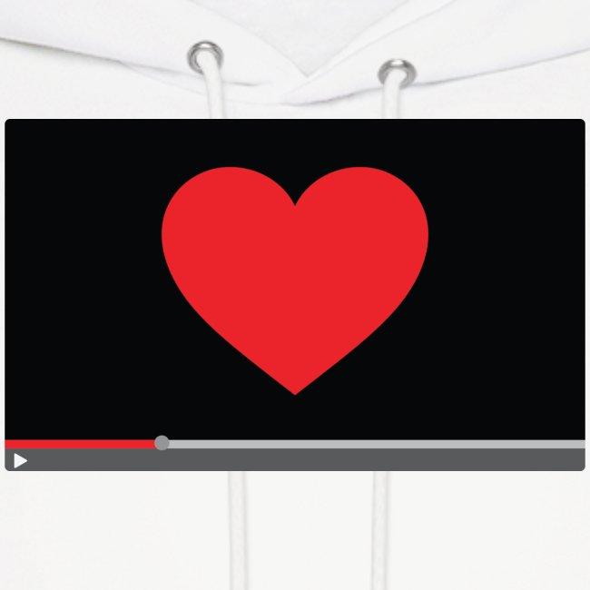 """""""Heart Video"""" Men's Hoodie"""