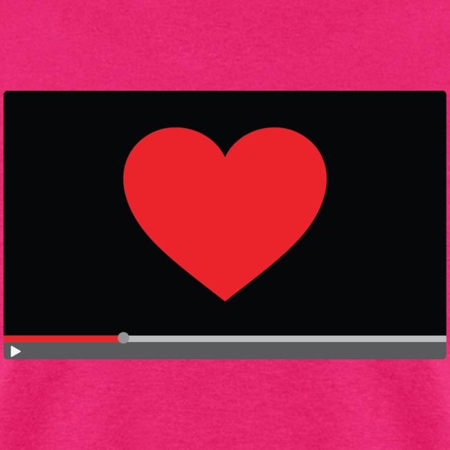 """""""Heart Video"""" Men's T-Shirt"""