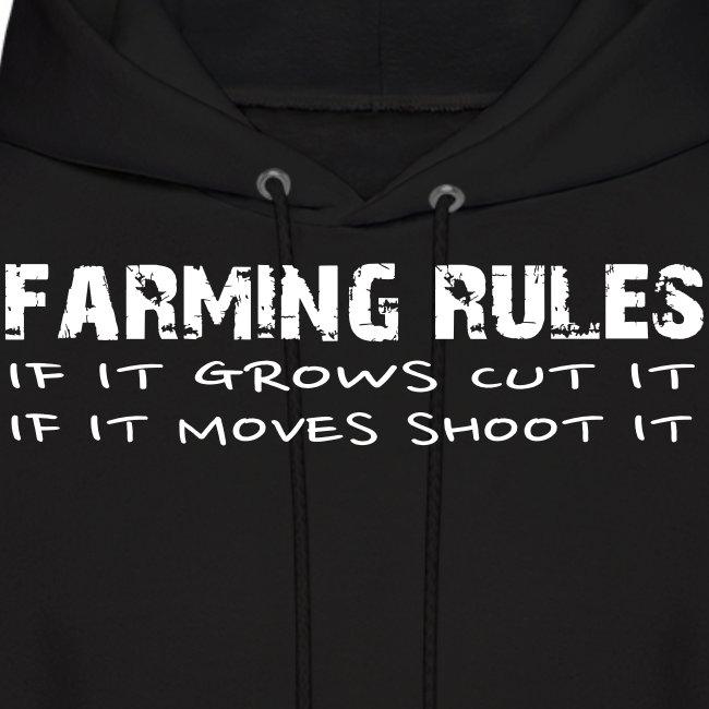 Farming Rules Mens Hoodie