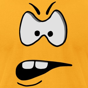 funny facial features: angry T-Shirts - Men's T-Shirt by American Apparel