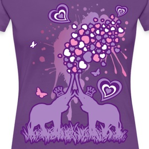 Elephant_Bathing - Women's Premium T-Shirt