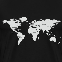 International Alcohol Map T-Shirts