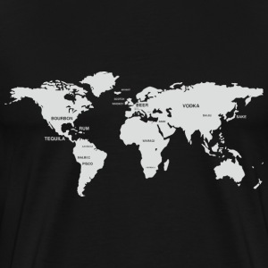 International Alcohol Map T-Shirts - Men's Premium T-Shirt