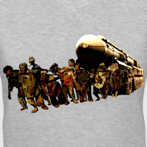 Hauling a Soviet Nuclear Missile Carrier - Women's V-Neck T-Shirt