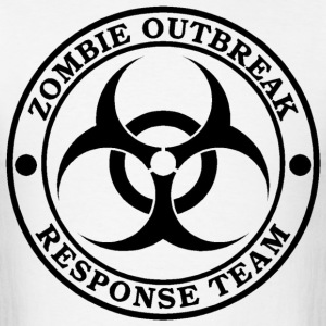 Zombie Outbreak Response Team (BLACK LOGO) | Gamin - Men's T-Shirt
