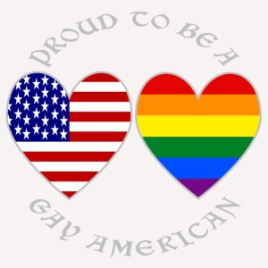 Proud Gay American Grey Letters