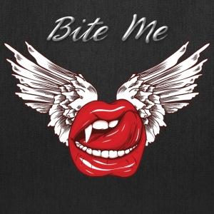Bite me Vampkiss Wings Bags & backpacks - Tote Bag