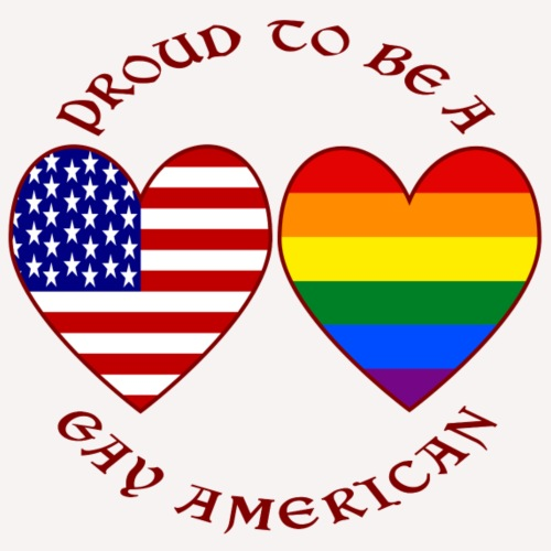 Proud To Be a Gay American Red Letters