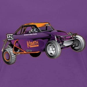 Purple Race Buggy Women's T-Shirts - Women's Premium T-Shirt