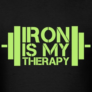 Iron Is My Therapy T-Shirts - Men's T-Shirt