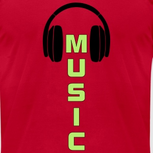Dancing Speaker Head phone Music Shirt -  - Men's T-Shirt by American Apparel