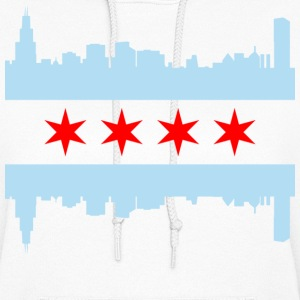Chicago Flag Skyline - Women's Hoodie