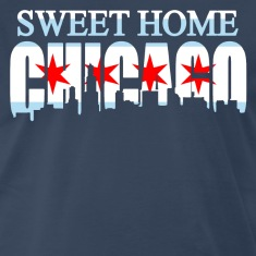 Sweet Home Chicago Flag Skyline