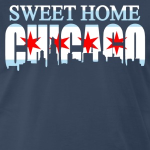 Sweet Home Chicago Flag Skyline - Men's Premium T-Shirt