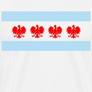 Polish Chicago Flag - Men's Premium T-Shirt