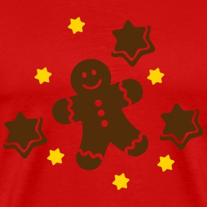 Lebkuchen Gingerbread man T-Shirts - Men's Premium T-Shirt
