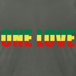 One love T-Shirts - Men's T-Shirt by American Apparel
