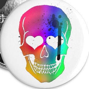 Skull Heart Buttons - Large Buttons