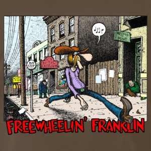 Fabulous Furry Freak Brothers Freewheelin Franklin - Men's Premium T-Shirt