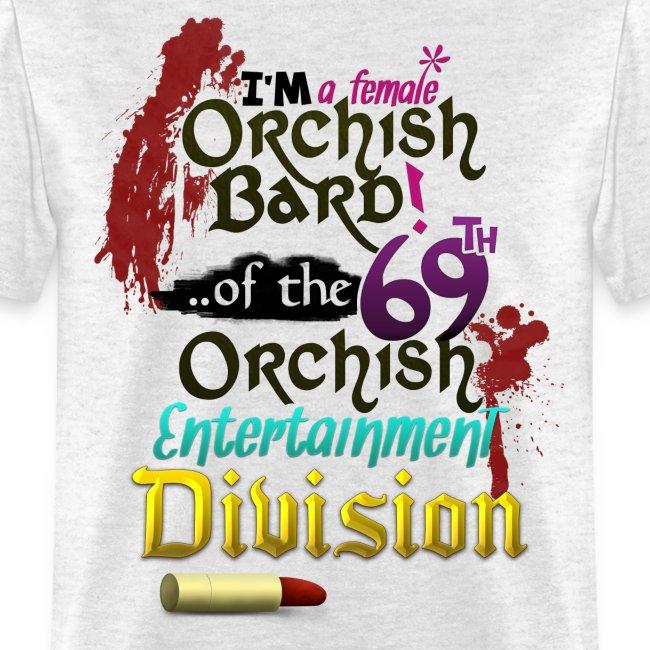 Mens Tee: Orc Bard Colour