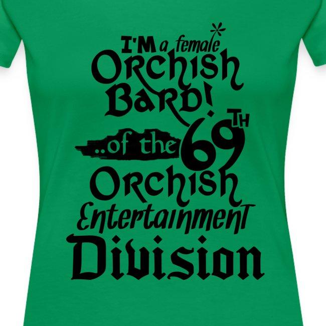 Ladies Tee: Orc Bard