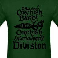 Design ~ Mens Tee: Orc Bard B/W